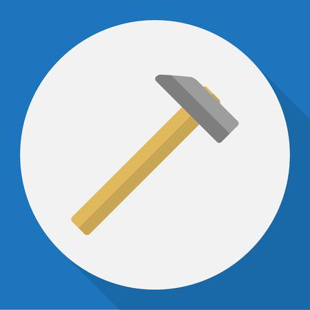 Vector Illustration Of Tools Symbol On Malleus Flat Icon Illustration