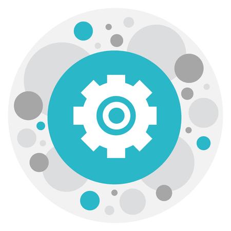 rackwheel: Vector Illustration Of Repair Symbol On Cogwheel Icon
