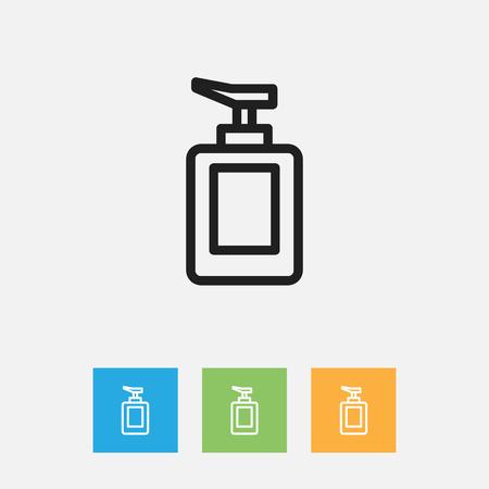 Vectorillustratie Van Hygiëne Symbool Op Hand Sanitizer Overzicht