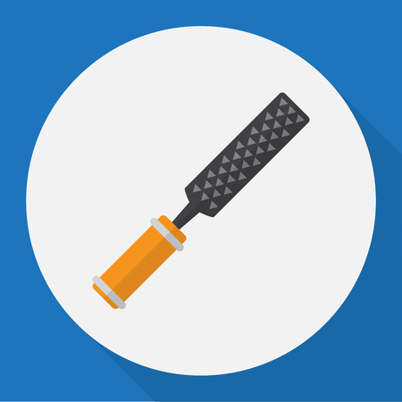 exchanger: Vector Illustration Of Equipment Symbol On File Flat Icon. Premium Quality Isolated Rasp  Element In Trendy Flat Style.