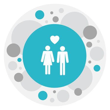 Vector Illustration Of Relatives Symbol On Lovers Icon Illustration