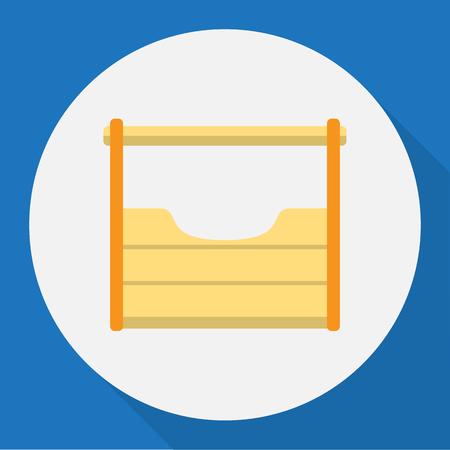 exchanger: Vector Illustration Of Equipment Symbol On Tool Kit Flat Icon