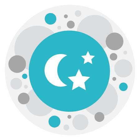 Vector Illustration Of Folks Symbol On Night Icon