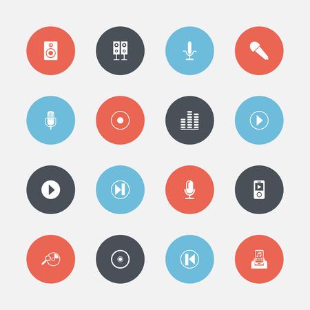 Set Of Mp3 Icons. Illustration