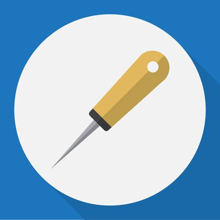 exchanger: Vector Illustration Of Tools Symbol On Awl Flat Icon