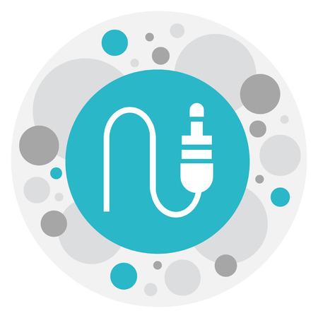 Vector Illustration Of Sound Symbol On Jack Input Icon