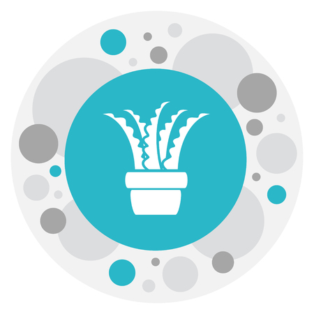 Vector Illustration Of Agriculture Symbol On Aloe Icon Ilustrace