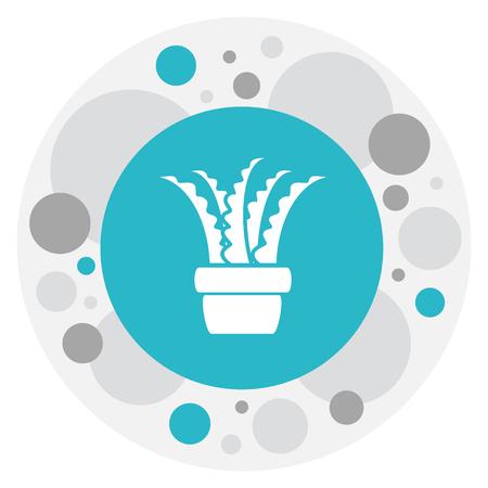 Vector Illustration Of Agriculture Symbol On Aloe Icon Illusztráció