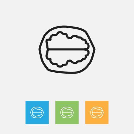 Illustration vectorielle de symbole de cuisson sur le contour de noyer Vecteurs