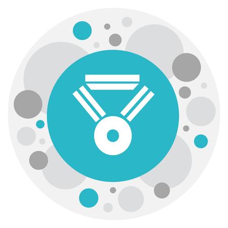 Vector Illustration Of Web Symbol On Award Icon