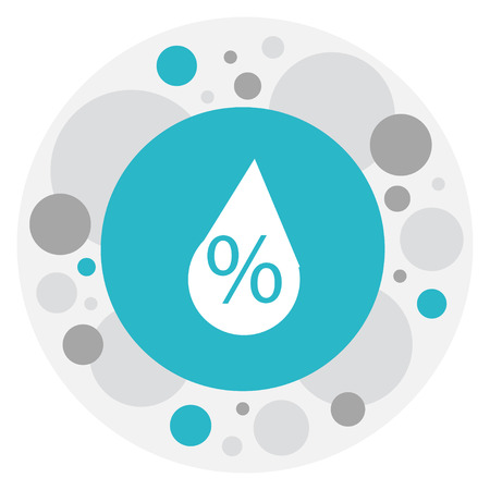 Vector Illustration Of Climate Symbol On Trickle Icon