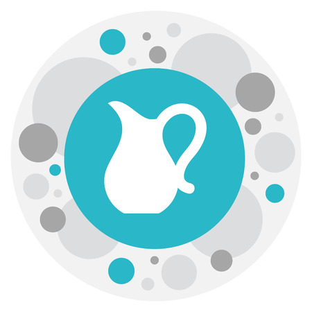 Vector Illustration Of Food Symbol On Pitcher Icon Illustration
