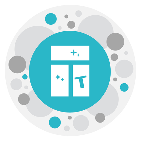 wiping: Vector Illustration Of Cleanup Symbol On Clean Window Icon