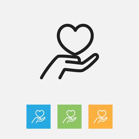Vector Illustration Of Folks Symbol On Keep Outline Illustration