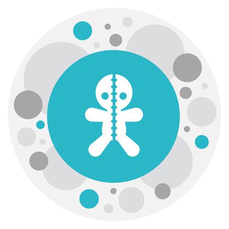 Vector Illustration Of Folks Symbol On Voodoo Doll Icon