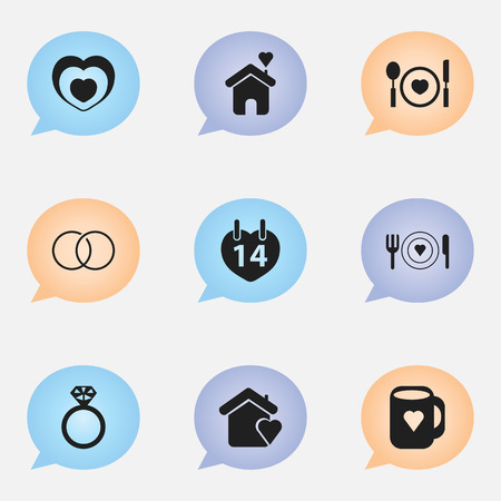 Set Of 9 Editable Passion Icons. Includes Symbols Such As Heartbeat, Cap, Plate And More