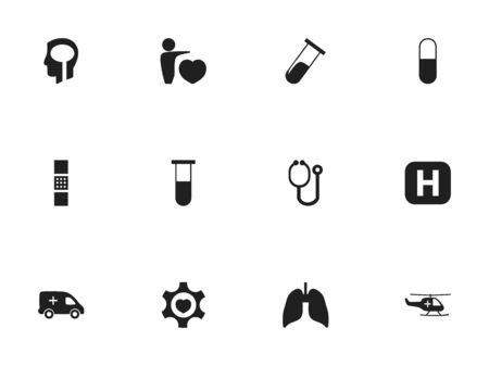 hospitalization: Set Of 12 Editable Health Icons. Includes Symbols Such As Heart, Human Love, Test Tube And More