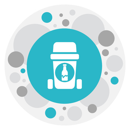 Vector Illustration Of Cleaning Symbol On Glass Recycle Icon