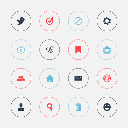 flue: Set Of 16 Editable Web Icons. Includes Symbols Such As Profile, Group, Faq And More