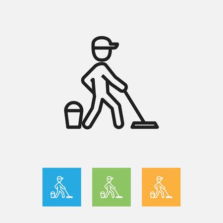 Illustration of cleanup symbol on job outline.