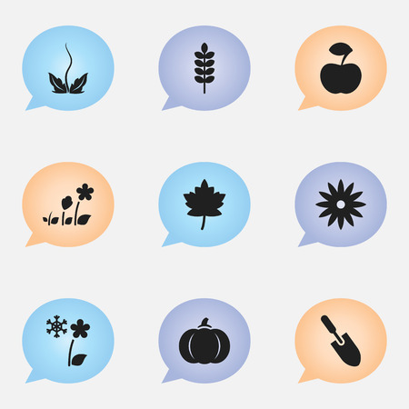 oars: Set Of 9 Editable Agriculture Icons. Includes Symbols Such As Barley, Gourd, Decorative And More Illustration