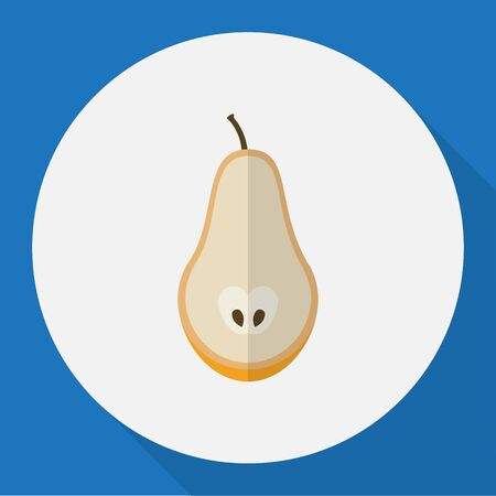 Vector Illustration Of Fruits Symbol On Pear Flat Icon