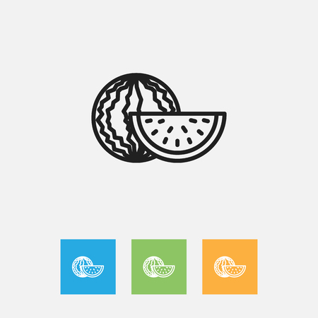 Vector Illustration Of Cooking Symbol On Watermelon Outline Stock Vector - 82985436