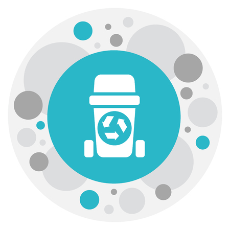 Vector Illustration Of Cleanup Symbol On Recycling Bin Icon