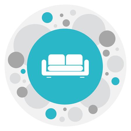 arredamento classico: Vector Illustration Of Interior Symbol On Couch Icon Vettoriali