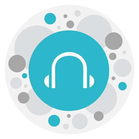 Vector Illustration Of Bureau Symbol On Headphone Icon Illustration