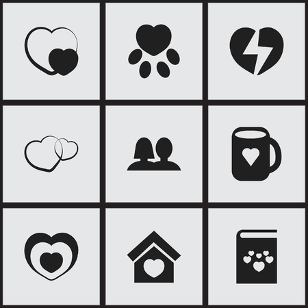Set Of 9 Editable Amour Icons. Includes Symbols Such As Building, Textbook, Tea Mug And More