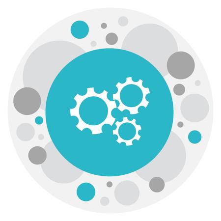 wap: Vector Illustration Of Internet Symbol On Mechanism Icon