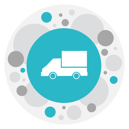 Vector Illustration Of Complex Symbol On Lorry Icon