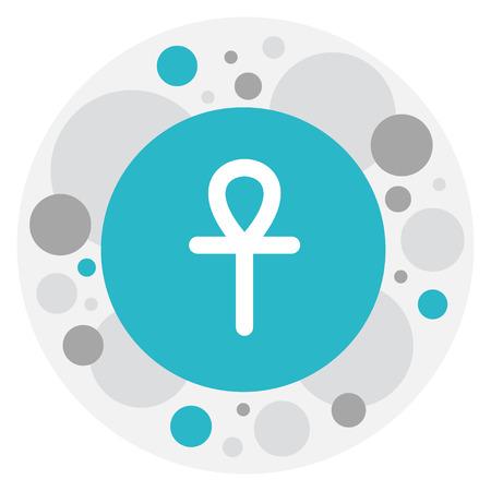 Vector Illustration Of Dyne Symbol On Ankh Icon