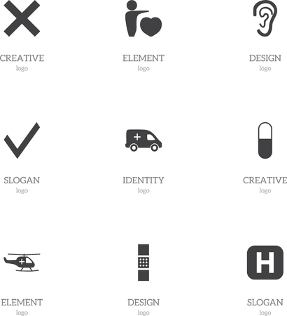 Set Of 9 Editable Hospital Icons. Includes Symbols Such As Mark, Human Love, Listen And More