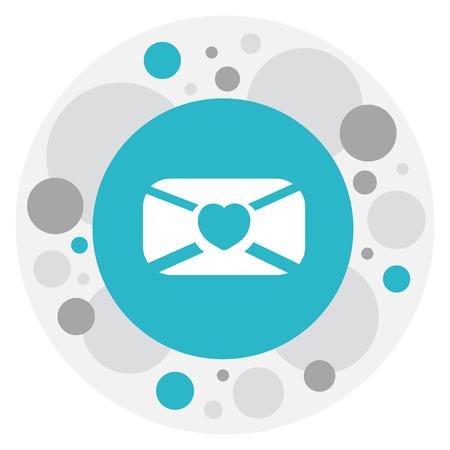 手紙アイコンを情熱のシンボルのベクトル イラスト
