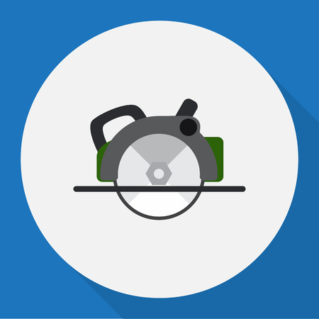 Vector Illustration Of Electrical Symbol On Circular Saw Flat Icon Illustration