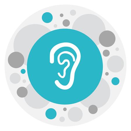Ilustración del vector del símbolo del hospital en el icono de la oreja