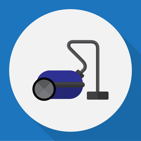 Vector Illustration Of Technology Symbol On Vacuum Cleaner Flat Icon