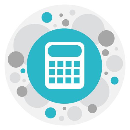 Vector Illustration Of Banking Symbol On Calculator Icon Иллюстрация
