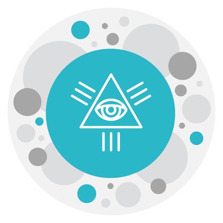 Vector Illustration Of Faith Symbol On Eye Of Providence Icon
