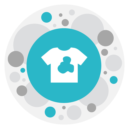 Vector Illustration Of Hygiene Symbol On Dirty T-Shirt Icon