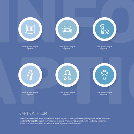 Set Of 6 Editable Folks Outline Icons. Includes Symbols Such As Bedstead, Automobile, Dad And More