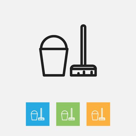 Vector Illustration Of Cleanup Symbol On Instrument Outline Ilustração