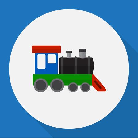 Vector Illustration Of Automobile Symbol On Train Flat Icon Illustration