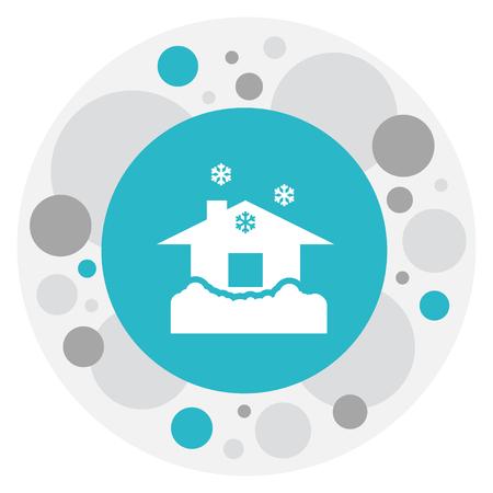 Vector Illustration Of Climate Symbol On Domicile Icon