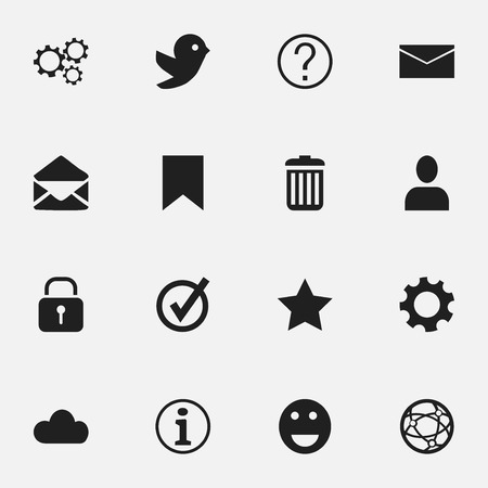 wap: Set Of 16 Editable Network Icons. Includes Symbols Such As Quiz, Network, Sky And More