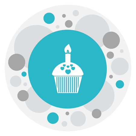 Vector Illustration Of Amour Symbol On Cupcake Icon