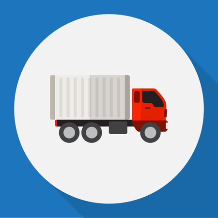 Vector Illustration Of Vehicle Symbol On Delivery Flat Icon Illustration