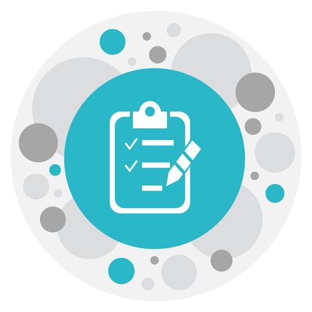 checklist: Vector Illustration Of Training Symbol On Checklist Icon
